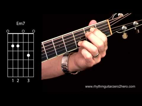 Acoustic Guitar Chords - Learn To Play E Minor 7 A.K.A Em7