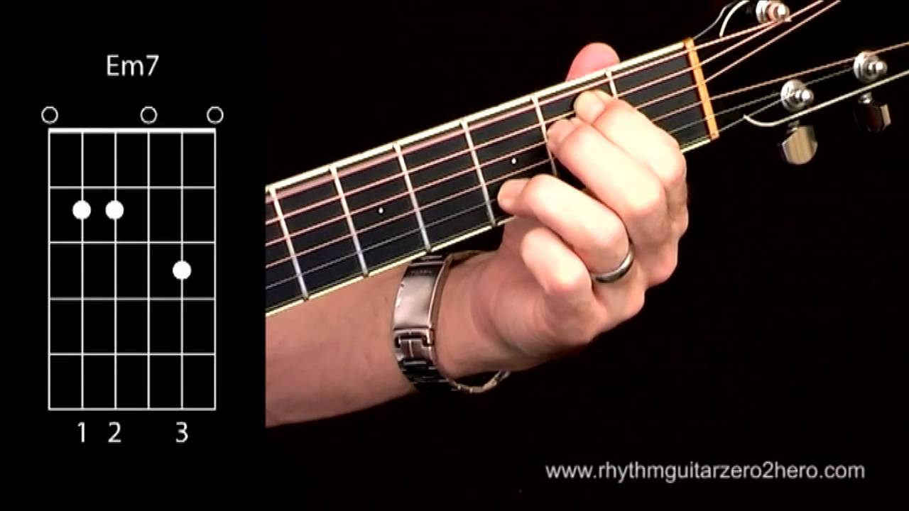 Acoustic Guitar Chords Learn To Play E Minor 7 Aka Em7 Youtube