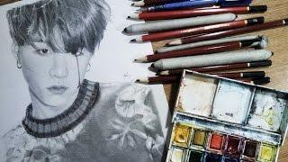 TUTORIAL - drawing Min Yoongi/AGUST D/SUGA [please save me tonight]