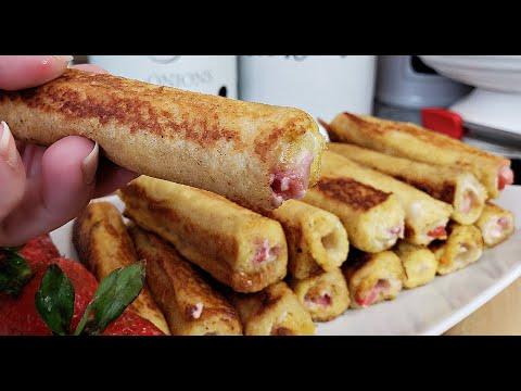 French Toast Roll Ups | French Toast Breakfast Ideas | Breakfast Ideas For Kids