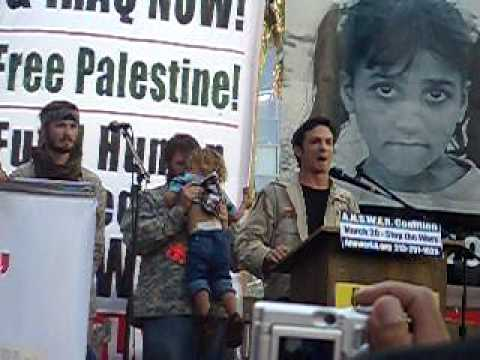 Mike Prysner speach at anti-war protest - Hollywood, Ca 3/20/2010