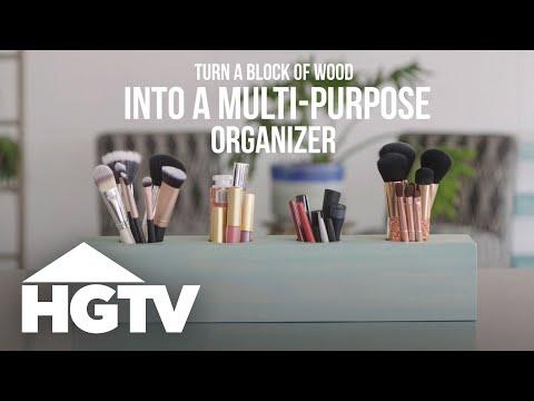 Make a Multi-Purpose Wood Organizer - HGTV