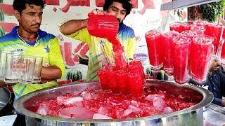 Refreshing Watermelon Juice | Amazing Watermelon Cutting Skills | Street Food  Karachi Pakistan