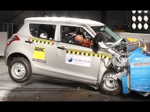 Suzuki Maruti Swift crash test - zero star safety
