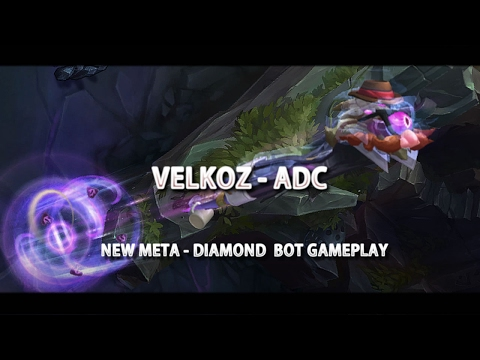 LoL - Vel'Koz ADC New Meta - Season 7 Diamond Gameplay