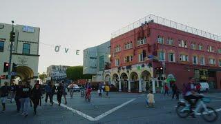 Restaurants In Venice Beach Stock Video