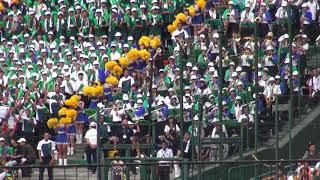 二松学舎大付(東東京) 1回裏 ブラスバンド演奏 甲子園 2018年8月12日(日)8時14分39秒