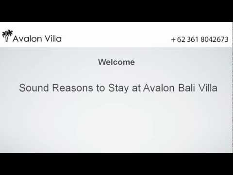 Sound Reasons to Stay at Avalon Bali Villa