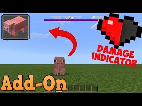 Minecraft Bedrock Edition Damage Indicators Addon (Health Bars for Mobs) thumbnail