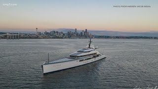 Mega yacht spotted in Seattle belongs to Dallas Cowboys owner Jerry Jones
