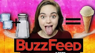 DIY Food Science Experiments! Buzzfeed Test! Homemade Ice Cream and Butter