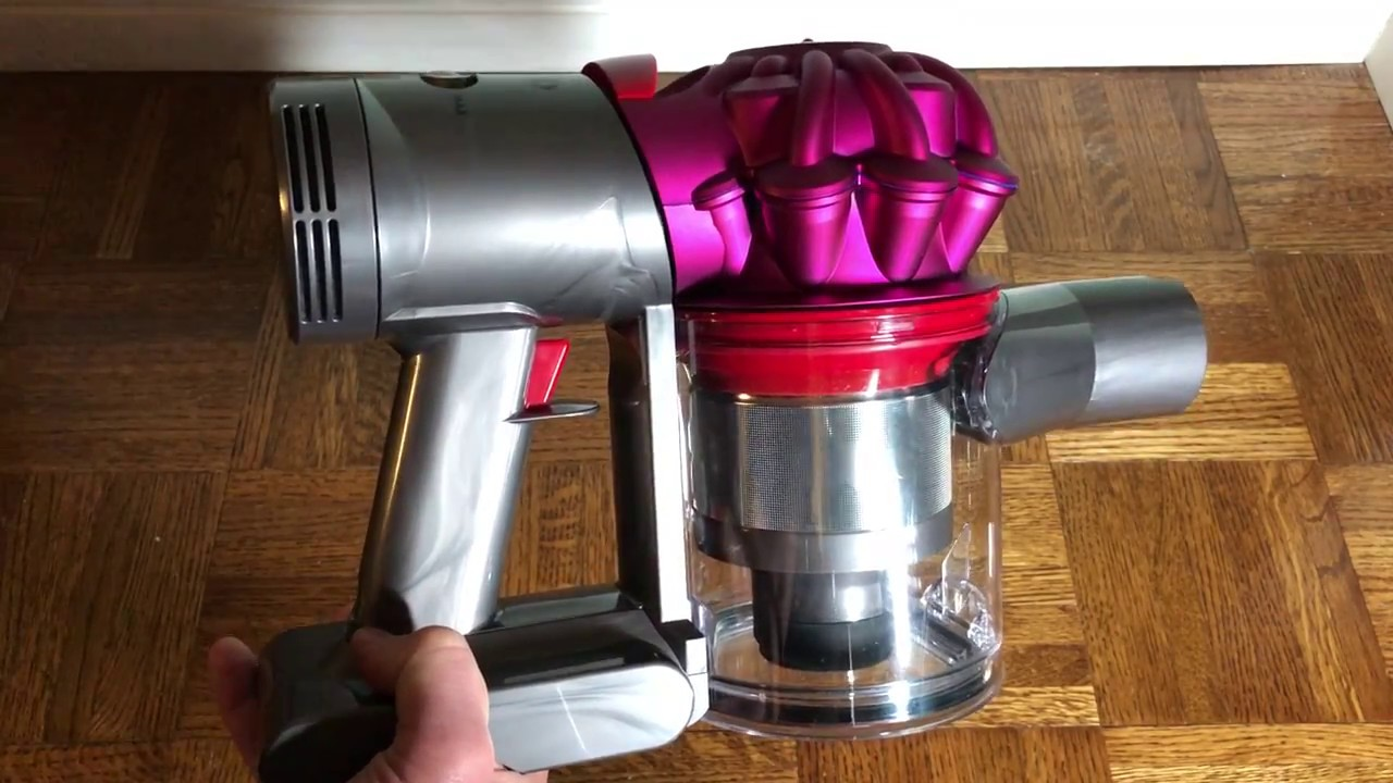 how to remove the bin on the dyson v7 remove the clear. Black Bedroom Furniture Sets. Home Design Ideas