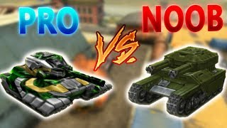 Pro vs Noob #1 (funny video) - Tanki Online
