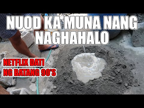 PAANO MAGHALO NG BUHANGIN AT SEMENTO? | CONCRETE MIXING IN THE PHILIPPINES | CEMENT AND SAND