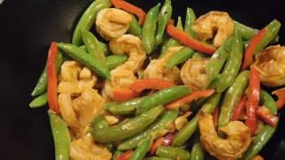 Shrimp, Lime, Cumin, Sugar Snap Peas, Tomato  12