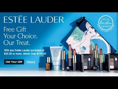 Estée Lauder free gift with purchase spring 2016 - YouTube