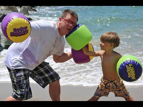 Family Fun Fight on a Beach - Toy Test
