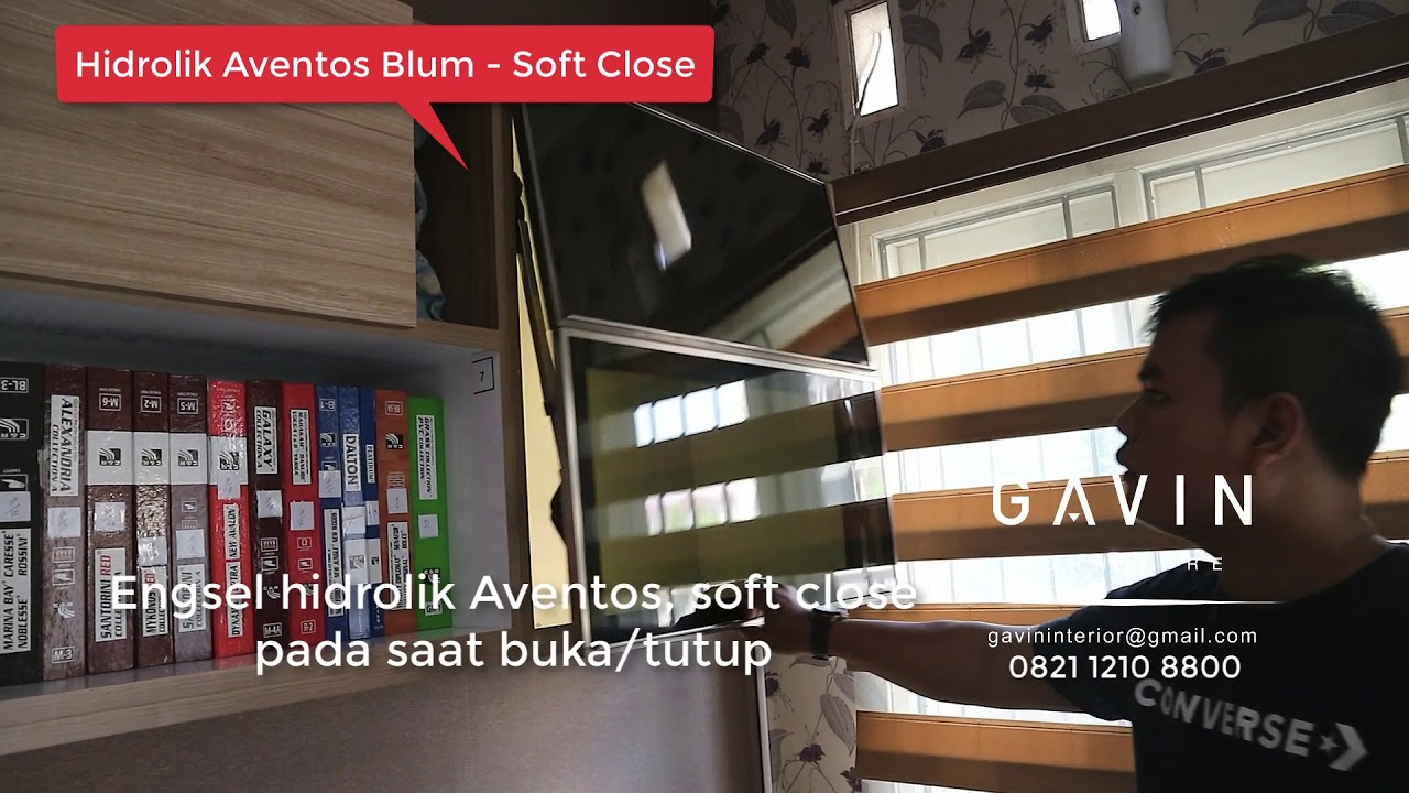 Engsel Blum Aventos Hidrolik Soft Close Gavin Furniture Youtube