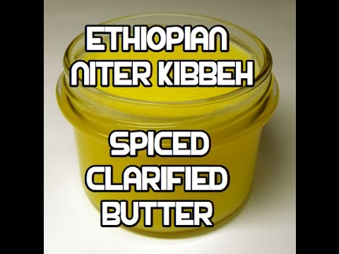 Ethiopian Spiced Butter Recipe - Niter Kibbeh Qibe Kibe ንጥር ቅቤ Ghee Clarified
