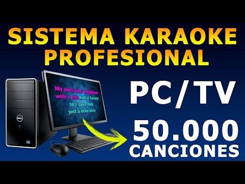 Armar Karaoke en Casa | 50.000 Canciones + Letras en Pantalla ,Rapido y Facil