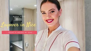 LAYOVER IN NICE AND WHAT'S INSIDE MY BAG | Emirates Cabin Crew