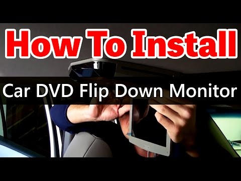 How To Install An Overhead Car DVD Player With Sunroof - Www.qualitymobilevideo.com