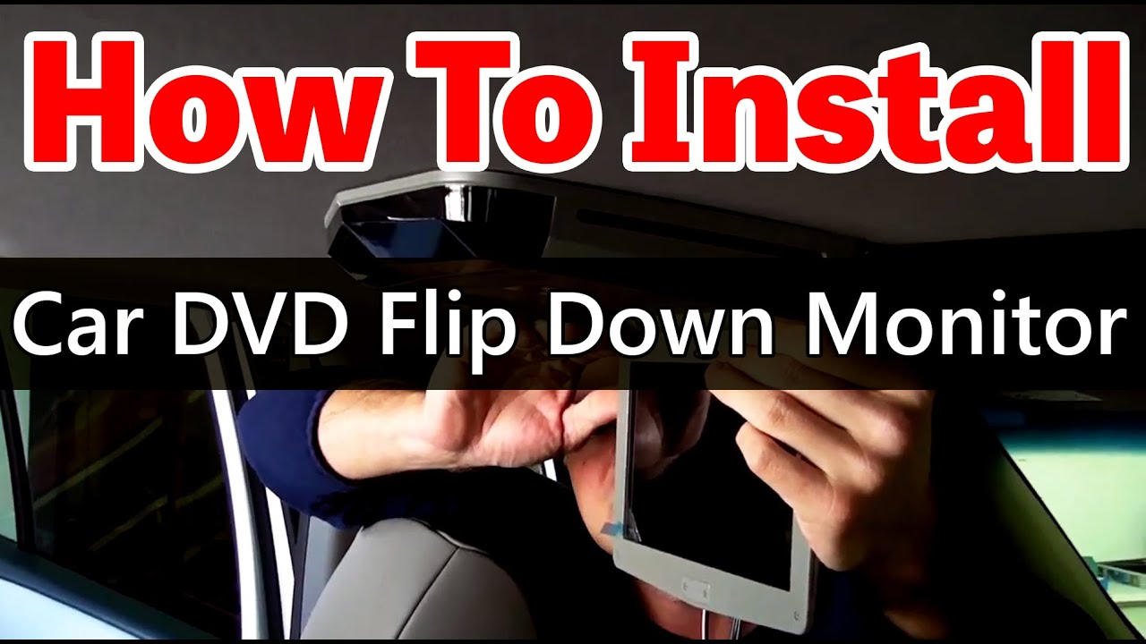 hight resolution of how to install an overhead car dvd player with sunroof www qualitymobilevideo com