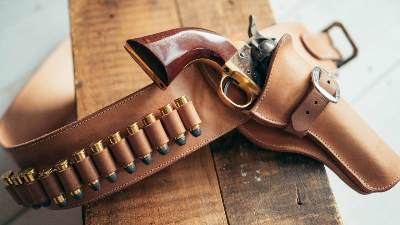 image about Printable Leather Holster Patterns called Creating a Leather-based Cowboy Step Instantaneous Attract Holster and Belt