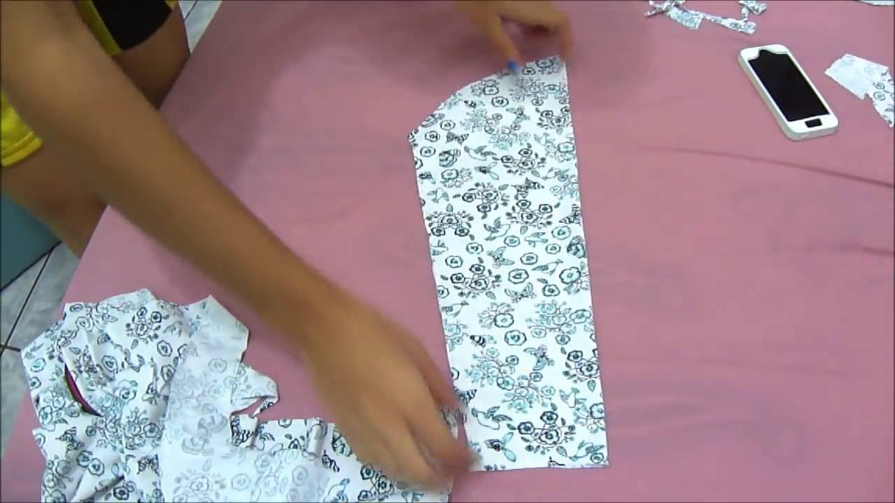 2d703446b6 Jeito mais fácil de fazer manga de blusa modelagem Franciele Fernandes -  YouTube
