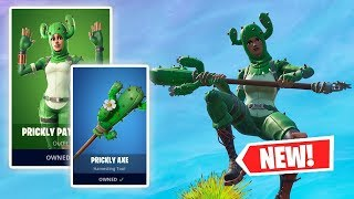NEW PRICKLY PATROLLER and PRICKLY AXE Gameplay in Fortnite!