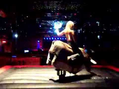 Melanie On The Mechanical Bull At Gilley S Youtube
