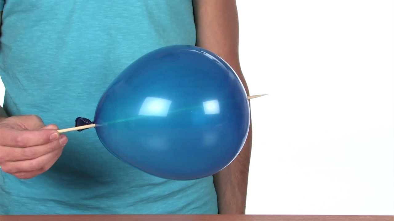 balloon skewer sick science 071 youtube