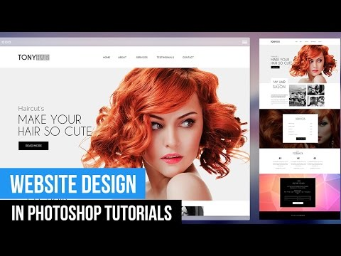 Web Design In Photoshop Tutorials: Create A Basic Web For Beginers