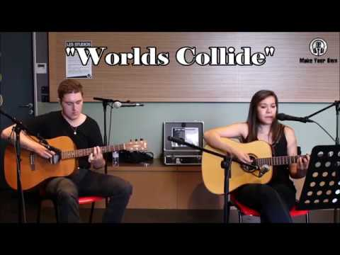 """Haunted - POE acoustic cover by """"Worlds collide"""""""