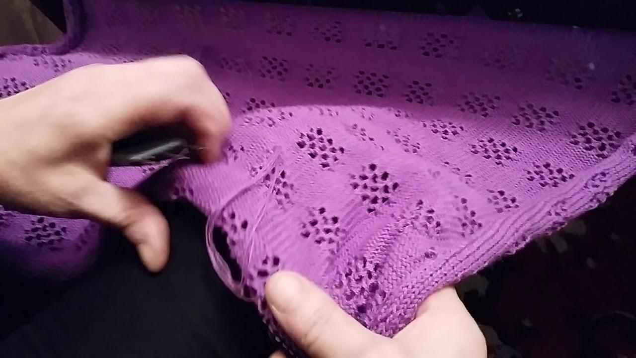 вязание на вязальной машине простой ажурный узор для начинающих