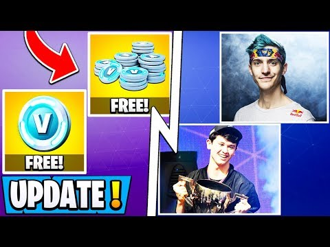 *NEW* Fortnite 10.10 Update! | All Early Changes, Collect Free Vbucks, Ninja & Bugha!