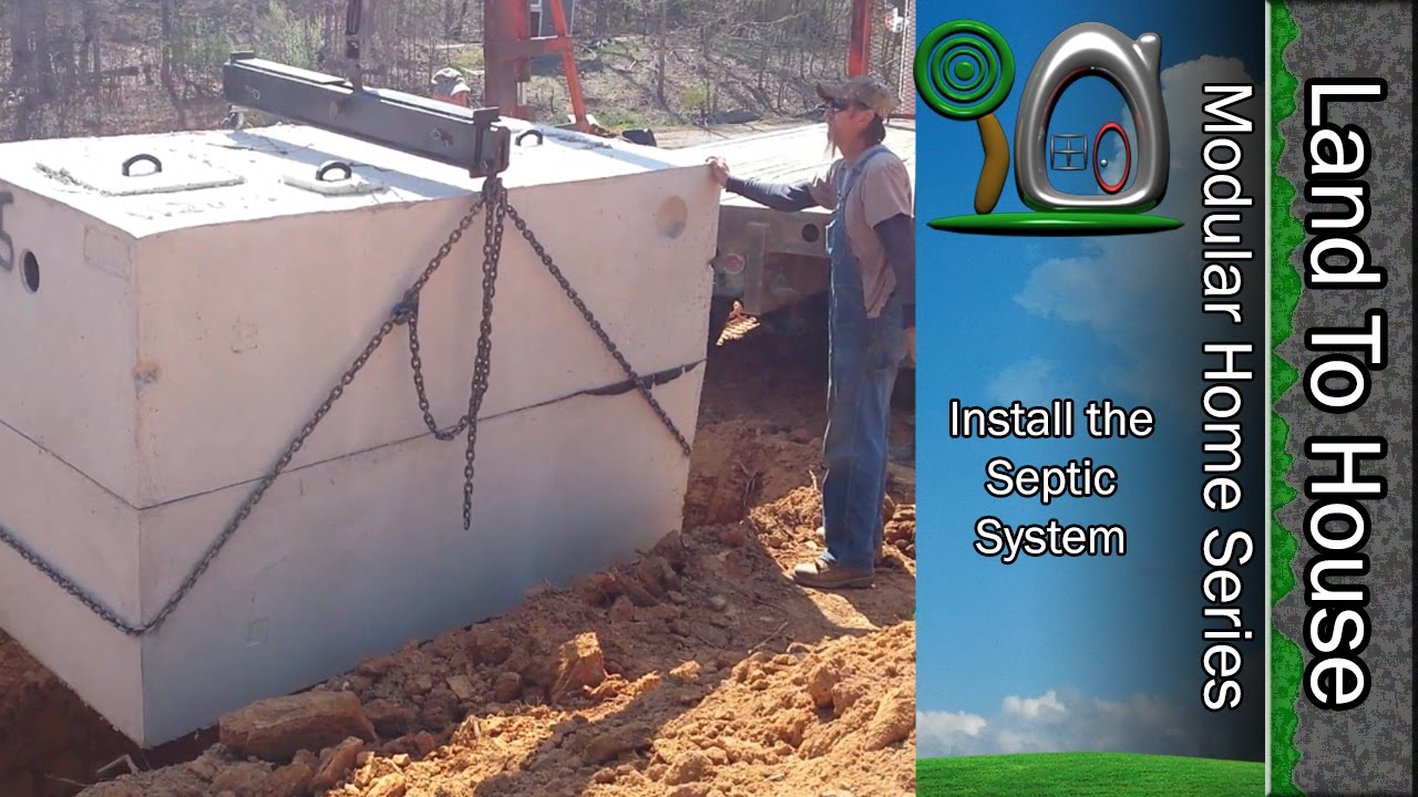 Install the septic tank 23 youtube for How big a septic tank do i need