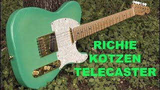 Fender Richie Kotzen Signature Telecaster in Sea Foam Burst!
