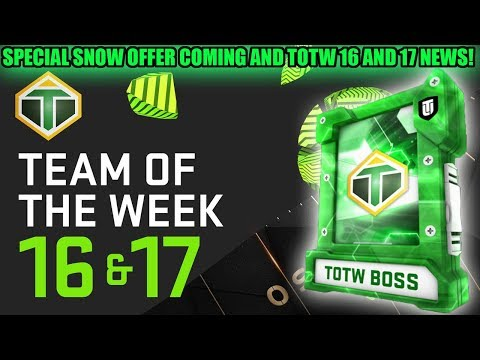 SPECIAL SNOW OFFER COMING AND TOTW WEEK 16 AND 17 INFO! | MADDEN 19 ULTIMATE TEAM