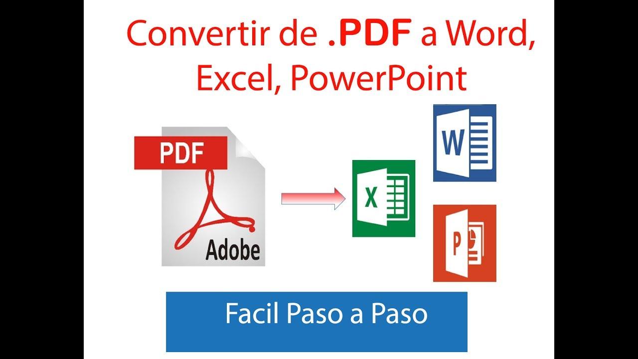 programa gratis para convertir de pdf a excel