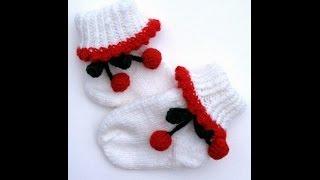Вязаные детские носочки  Теплые ножки у детей