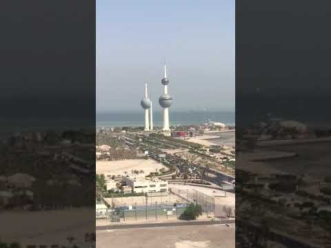Kuwait city view from safir hotel