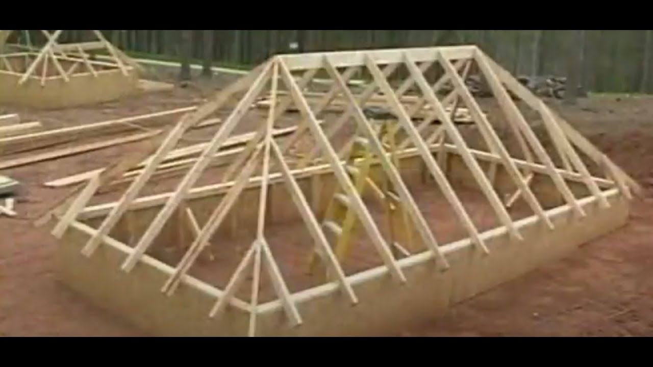 How To Frame A Hip Roof Full Demonstration Of Layout Cuts And Assembling Youtube