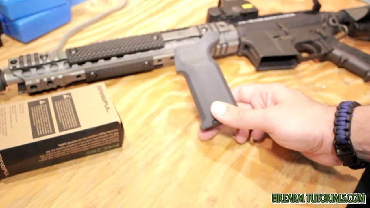 Magpul Gray Furniture MOE K2 Grip   YouTube