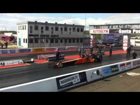 7000bhp top fuel dragster @ Santapod 0-100 0.8secs
