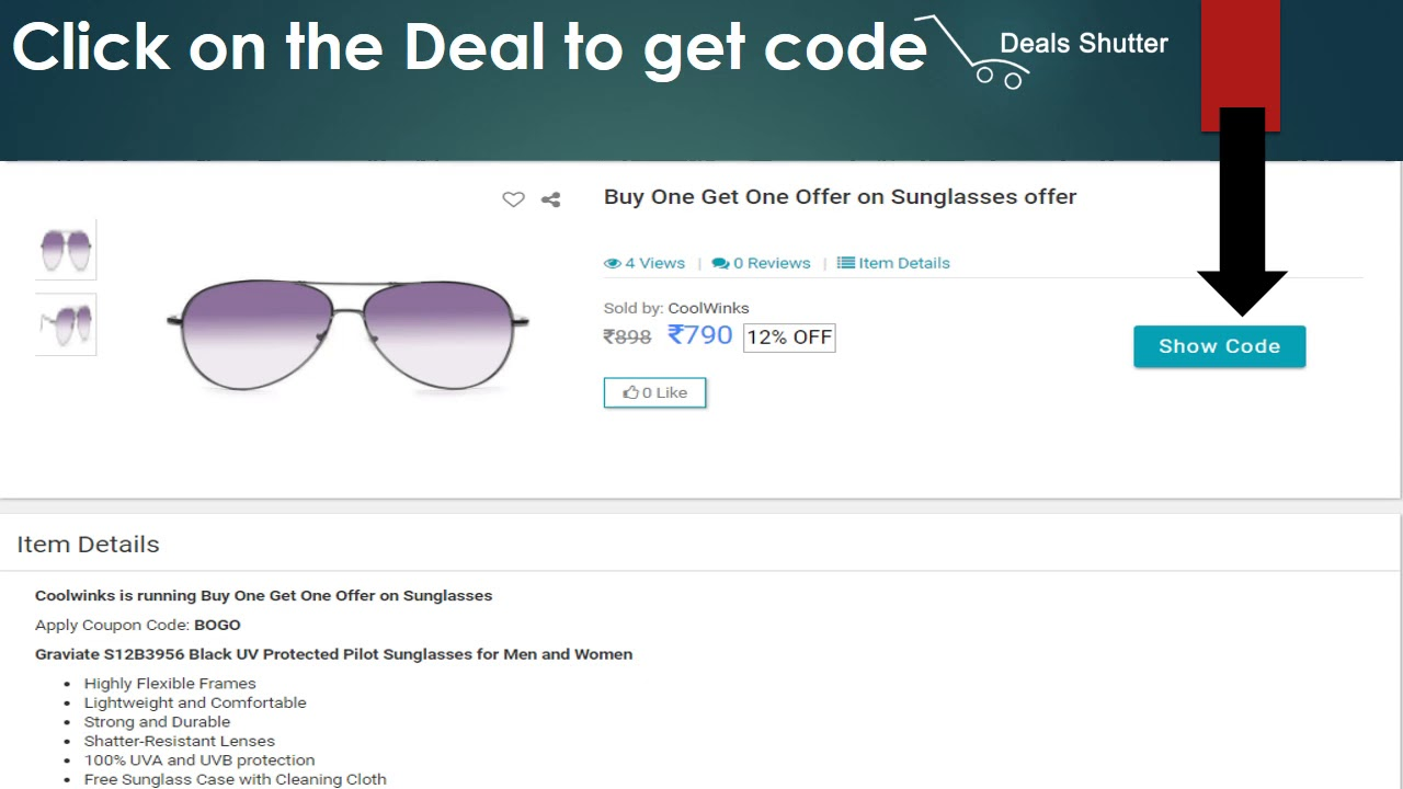 5192caa8ab4 How to Use Coolwinks Coupons from Dealsshutter.com - YouTube