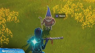 Search the Hidden Gnome Found Inbetween Fancy View, a Wooden Shack, and a Big House - Fortnite