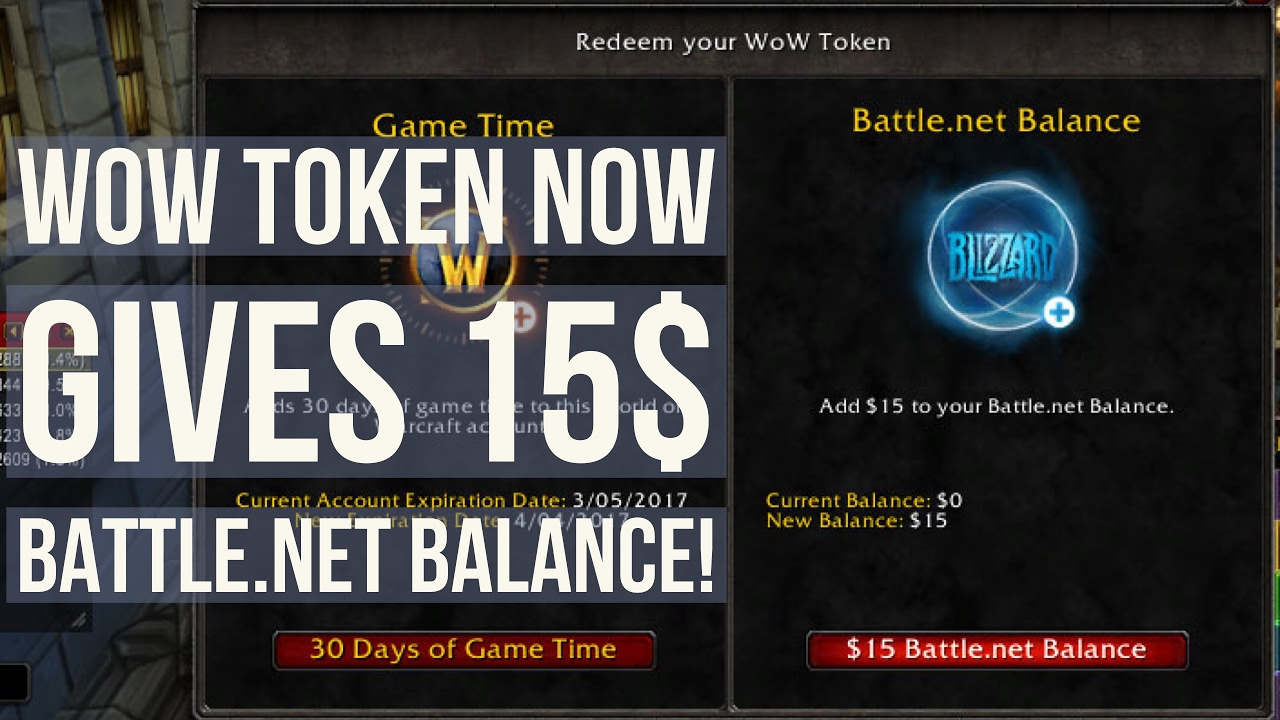 WoW Legion | WoW Tokens for Battle net Balance! [1 WoW Token = 15$  Battle net Credit!]