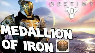 Destiny - Medallion Of Iron - What Is It? - Reputation Boost Iron Banner 2.0