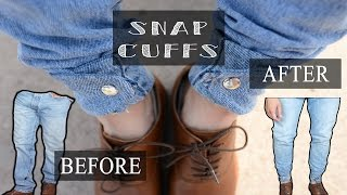 baggy levi s to tappered and snap cuffed jeans   kad transformation 17
